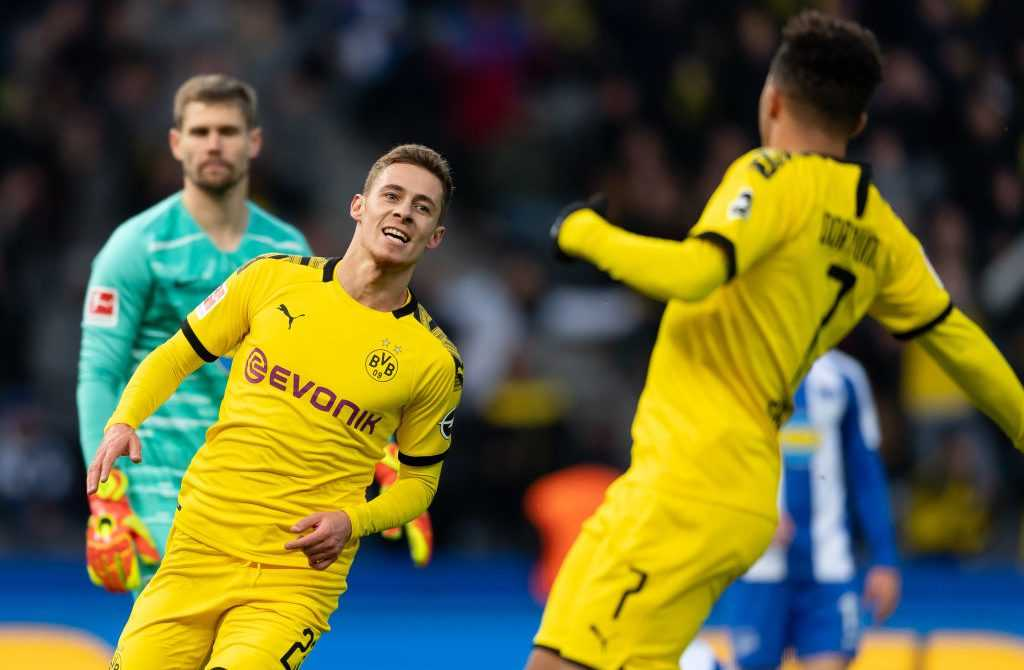 Dortmunds Thorgan Hazard Torjubel gegen Hertha