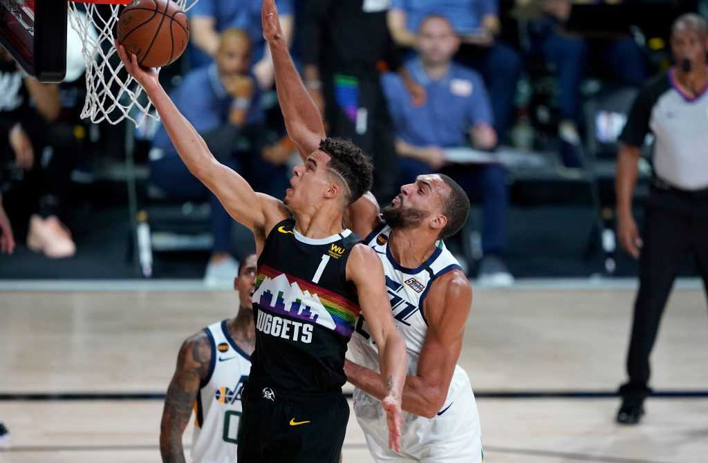 Porter und Gobert in Aktion - NBA Playoffs
