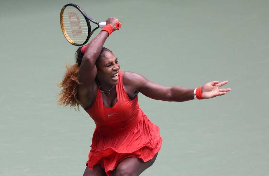 Serena Williams in Aktion bei den US Open