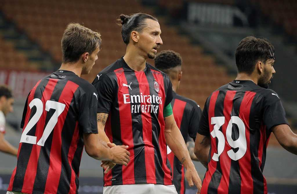 Zlatan Ibrahimovic im Dress des AC Mailand