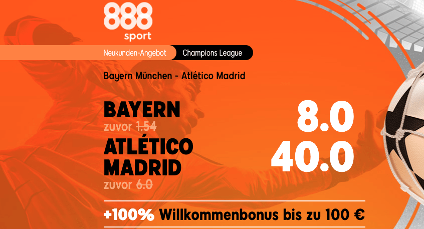Quotenboost Bayern Atletico