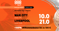 Quotenboost-Aktion zu Man City gegen Liverpool