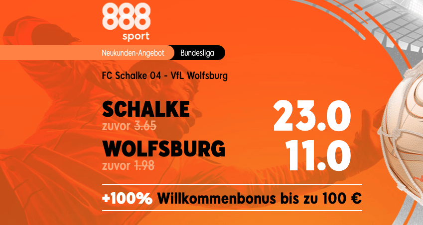 Quotenboost Schalke vs Wolfsburg