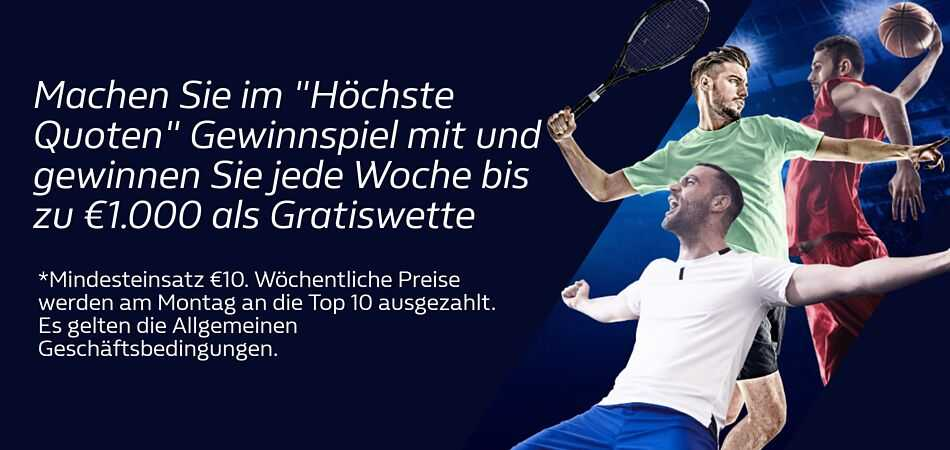 William Hill Gratiswetten Angebot